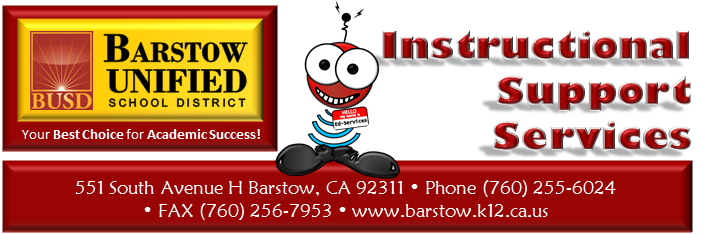 Instructional Support Services Departments Barstow Usd